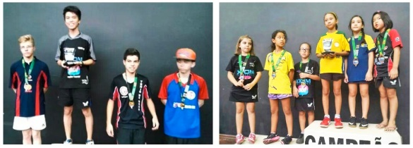 alunos destaques na liga Nipo Brasileira de Tênis de Mesa
